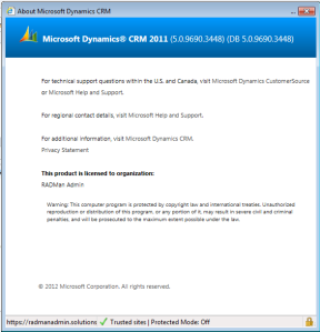 Microsoft Dynamics Version