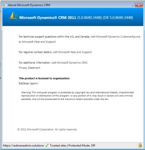 Microsoft Dynamics Version